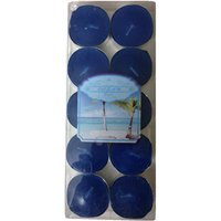 Devinez Scented (Ocean) Smokeless Tealight Candles,  Blue (Pack Of 10)
