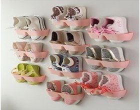 Pink Shelf Stick On The Wall For Footwear Collection 10 Pieces - STKW10P