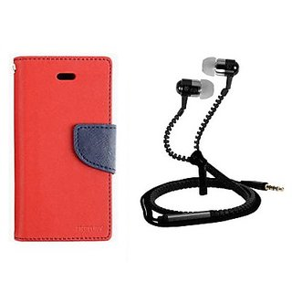 Stand Flip Cover For Micromax Yu Yureka With Zipper Earphone
