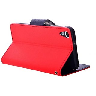 Stand Flip Cover For Micromax Canvas 5 Q380 With Zipper Earphone