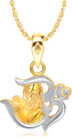 VK Jewels Om Sai Pendant Gold and Rhodium plated -  P1362G VKP1362G