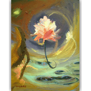 Vitalwalls Still Life Painting Canvas Art Print ,Wooden Frame.Static-112-F-45cm