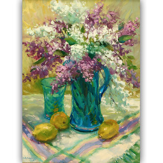 Vitalwalls Still Life Painting Canvas Art Print,Wooden Frame.Static-194-F-45 cm