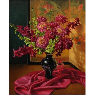 Vitalwalls Still Life Painting Canvas Art Print,Wooden Frame.Static-195-F-30 cm