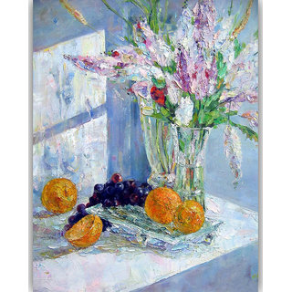 Vitalwalls Still Life Painting Canvas Art Print,Wooden Frame.Static-258-F-60cm