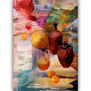 Vitalwalls Still Life Painting Canvas Art Print,Wooden Frame.Static-259-F-60cm
