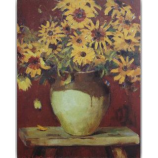 Vitalwalls Still Life Painting Canvas Art Print,Wooden Frame.Static-295-F-45cm