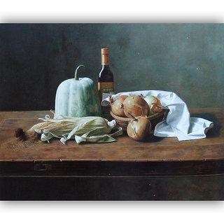 Vitalwalls Still Life Painting Canvas Art Print.Static-296-30cm