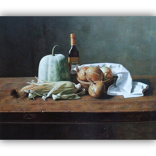 Vitalwalls Still Life Painting Canvas Art Print.Static-296-45cm