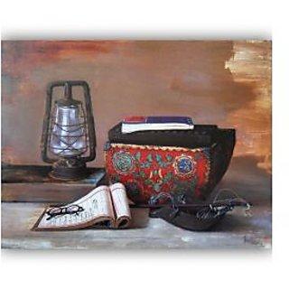 Vitalwalls Still Life Painting Canvas Art Print,Wooden Frame.Static-282-F-45cm