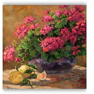 Vitalwalls Still Life Painting Canvas Art Print,Wooden Frame.Static-347-F-60cm