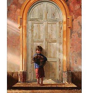 Vitalwalls Portrait Painting Canvas Art Print, on Wooden FrameWestern-091-F-60cm