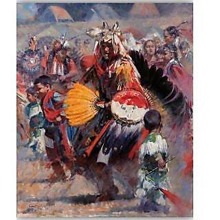 Vitalwalls Portrait Painting Canvas Art Print.Western-130cm-30cm