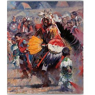 Vitalwalls Portrait Painting Canvas Art Print.Western-130cm-45cm