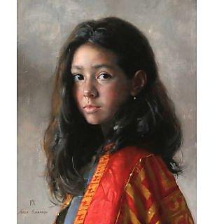 Vitalwalls Portrait Painting Canvas Art Print.Western-133-30cm