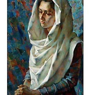 Vitalwalls Portrait Painting Canvas Art Print.Western-239-45cm