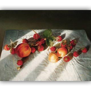 Vitalwalls Still Life Painting Canvas Art Print,Wooden Frame.Static-324-F-30cm