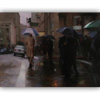Vitalwalls Portrait Painting Canvas Art Print.Western-203-45cm