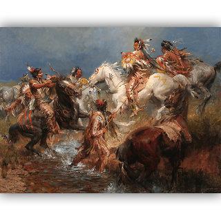 Vitalwalls Portrait Painting Canvas Art Print.Western-349-60cm