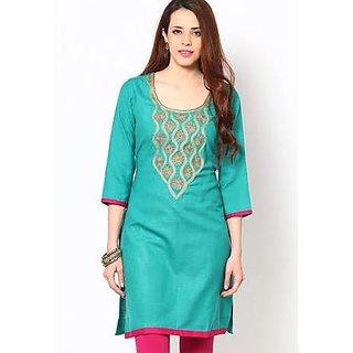 Women Kurti Suit (Green Colour)