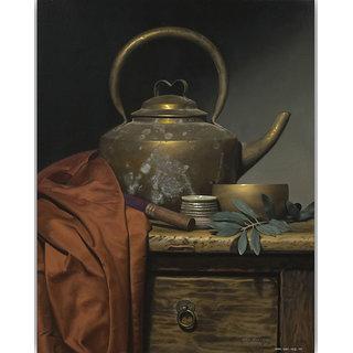 Vitalwalls Still Life Painting  Canvas Art Print,Wooden Frame.Static-361-F-30cm