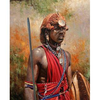Vitalwalls Portrait Painting Canvas Art Print.Western-065-30cm