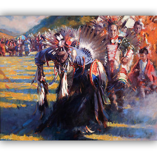 Vitalwalls Portrait Painting Canvas Art Print.Western-113-30cm