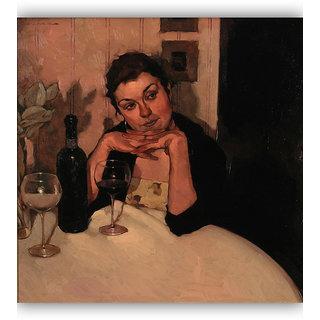 Vitalwalls Portrait Painting Canvas Art Print.Western-142-60cm