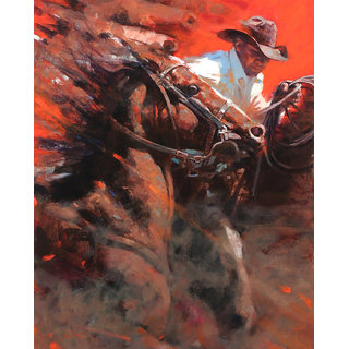 Vitalwalls Portrait Painting Canvas Art Print.Western-144-60cm