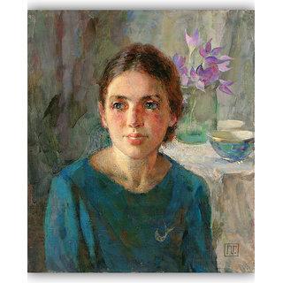 Vitalwalls Portrait Painting Canvas Art Print.Western-218-30cm