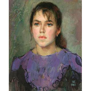 Vitalwalls Portrait Painting Canvas Art Print.Western-219-30cm