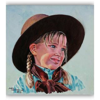 Vitalwalls Portrait Painting Canvas Art Print.Western-269-45cm