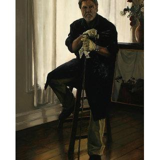 Vitalwalls Portrait Painting Canvas Art Print.Western-270-60cm