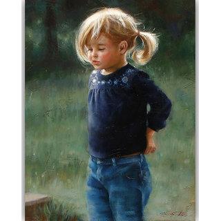 Vitalwalls Portrait Painting Canvas Art Print.Western-306-30cm