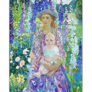 Vitalwalls Portrait Painting Canvas Art Print.Western-442-60cm