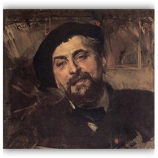 Vitalwalls Portrait Painting Canvas Art Print.Western-444-60cm