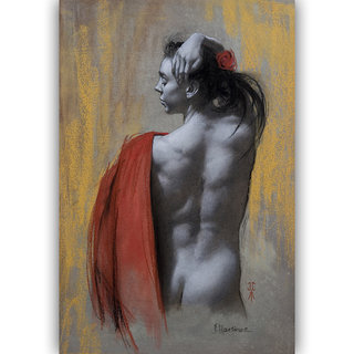Vitalwalls Portrait Painting Canvas Art Print.Western-445-30cm