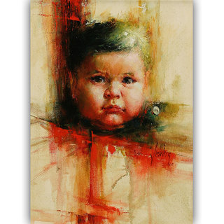 Vitalwalls Portrait Painting Canvas Art Print,on Wooden FrameWestern-492-F-45cm