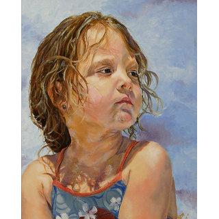 Vitalwalls Portrait Painting Canvas Art Print,on Wooden FrameWestern-277-F-60cm