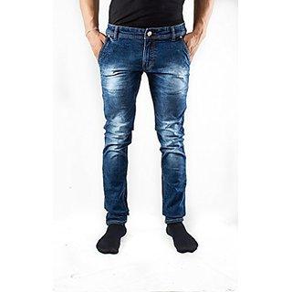 Mens Blue Fancy Styling Jeans