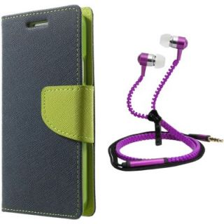 Stylish Flip Cover For Sony Xperia C3 With Zipper Earphone