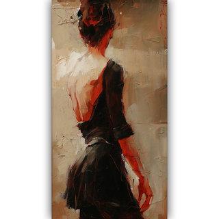 Vitalwalls Portrait Painting Canvas Art Print,on Wooden FrameWestern-419-F-30cm