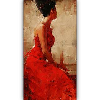 Vitalwalls Portrait Painting Canvas Art Print.Western-420-30cm