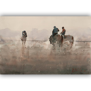 Vitalwalls Portrait Painting Canvas Art Print,on Wooden FrameWestern-475-F-30cm