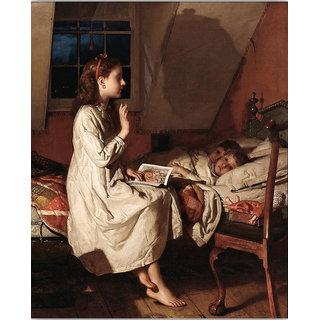 Vitalwalls Portrait Painting Canvas Art Print.Western-477-30cm