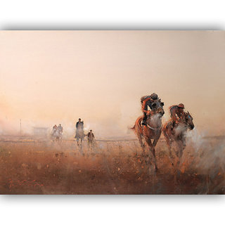 Vitalwalls Portrait Painting Canvas Art Print.Western-478-30cm
