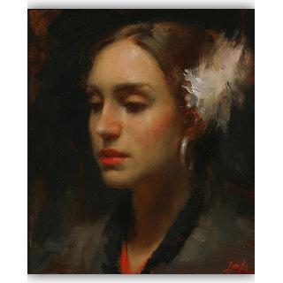 Vitalwalls Portrait Painting Canvas Art Print,on Wooden FrameWestern-512-F-60cm