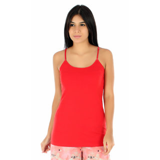 Shownice Womens Camisole in Red