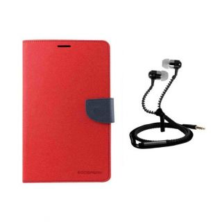 Stand Flip Cover For HTC One M9 Plus With Zipper Earphone