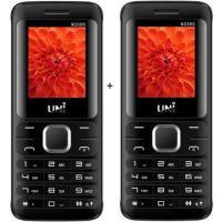 UNI 1.8 Inch TRIPLE Sim Multimedia Set Of Two Mobile (N3300)-Black